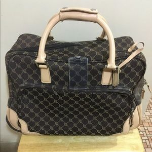 L Ralph Lauren Rolling Duffel Monogram Carry On